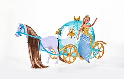 Simba 105733974 - Steffi Love Märchen Kürbiskutsche, blau oder rosa