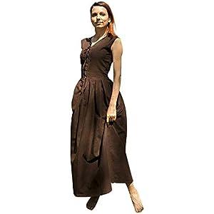 Epic Armoury- Peasant Dress-Dark Brown-M vestido, Color marrón oscuro (Iron Fortress 31071650)