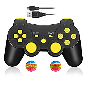 Wireless Controller für PS3, Bluetooth Dual Vibration Gamepad Sixaixs (6-Achsen) Joypad für Sony PS3 PlayStation 3