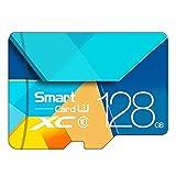Memory Card, Flash Card TF Microsdhc Scheda di Memoria da 128 GB 64GB 32GB 16GB 80Mb / S Class10 U3 U1 SDXC Grade Evo + Micro SD Memory Card,128GB
