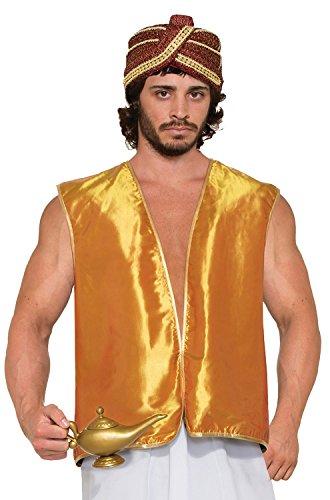 Desert Prince Gold Sultan Genie Costume Vest Adult Men Standard (Für Erwachsene Desert Prince Kostüm)