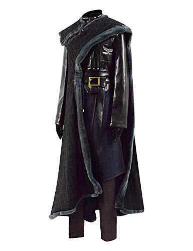 Cosplay Arya Stark Kostüm - IDEALcos Arya Stark Halloween Cosplay Party Kostüm Damen Outfit Anzug Komplettset (M, Schwarz)