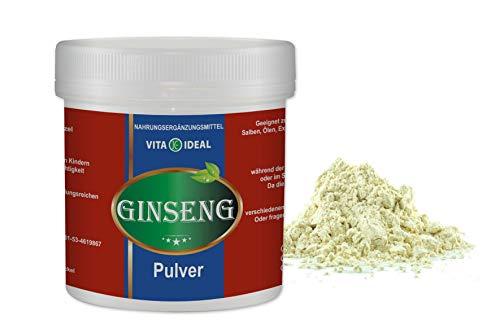 VITA IDEAL ® Ginseng Wurzel PULVER 50g (Panax Ginseng) + Messlöffel
