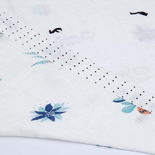 Super Soft Infant Zwei Ebenen und vier Schichten Wickeltuch aus Musselin, Unisex für Babys–Eco 70% Bambus 30% Baumwolle, 1Pack