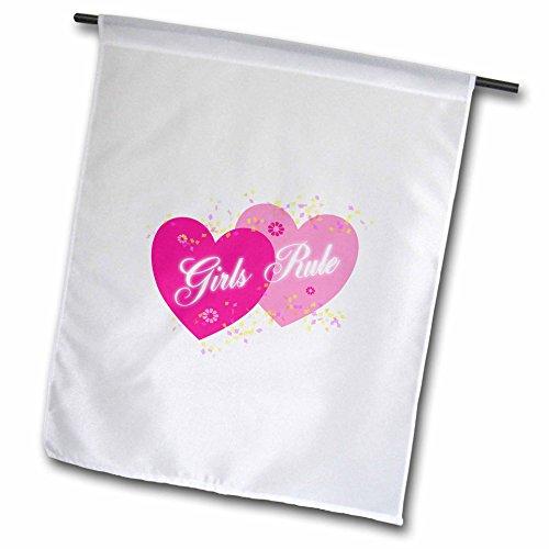 3drose FL _ 164800_ 1Zwei Ton rosa Herzen Mädchen Regel Konfetti Garden Flagge, 12von 18