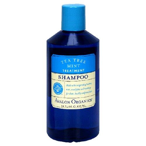 Avalon Organics Shampoo Tea Tree mint Behandlung, 415ml (3Stück) - Avalon Organics Shampoo-behandlung, Tea Tree Mint