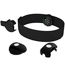 Polar OH1 + Waterproof Optical Heart Rate Sensor with Swimming Goggle Strap Clip and Armband - HR Monitor with Bluetooth, ANT +
