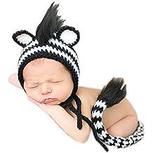 Hecho a mano bebé recién nacido bebé niña niño ganchillo sombrero tocado fotografía Props ropa disfraz
