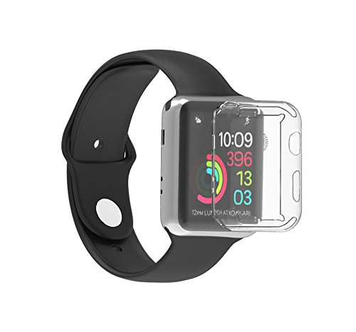 Yallylunn Ultra-Slim Electroplate Soft Case Cover Einteilige Schnalle PersöNlichkeit Wild SchüLerin Student FrüHlingstour for Apple Watch Series 3 38Mm Tria-serie