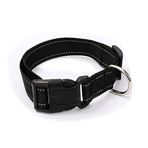 Paws Hund Anti Bark Halsband Nylon Komfortabel Für Kleine/Mittlere / Große Hunde, Schwarz,M -