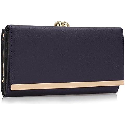 Xardi London Trifold-Portafoglio da donna con pompon, motivo: borsetta da donna, con chiusura a portafoglio, per bambina