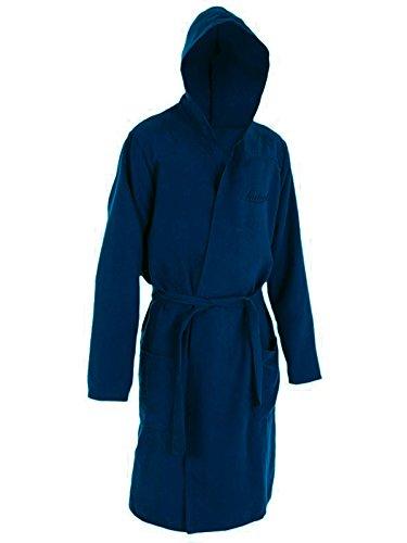Liabel accappatoio con cappuccio in microfibra uomo/donna art. soffio (XXL, blu)