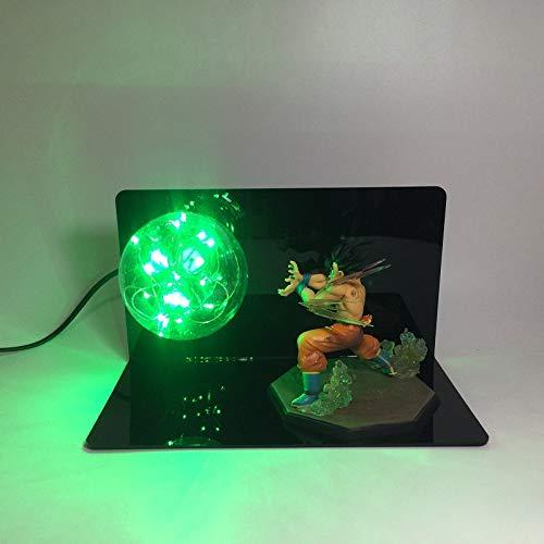 Dragon Ball Sun Wukong handgemachte kreative Tischlampe LED Schreibtischlampe Auge Lampe leuchtende kreative Licht, grün, (Leuchtend Grüne Lampe)