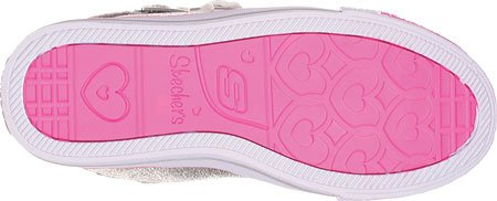 Skechers (SKEES) Shuffles - Heart & Sole, baskets sportives fille métallisé (SIL)