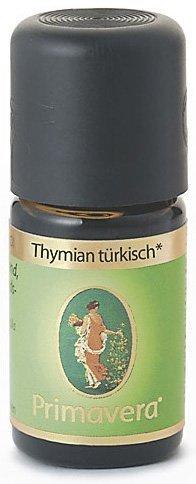 PRIMAVERA Ätherisches Öl Thymian türkisch bio 5 ml - Aromaöl, Duftöl, Aromatherapie - kräftigend, aktivierend, anregend - vegan