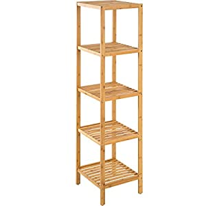 TecTake Standregal Haushaltsregal Badregal Holz   Diverse Modelle   (5  Böden | 33x33x141 Cm |