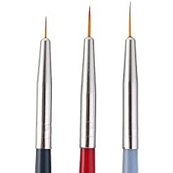 LCLrute 3pcsNail Kunst UV Gel Polish Design Dot Malerei Detaillierung Stift Pinsel Werkzeug-Set Schönheit Werkzeug