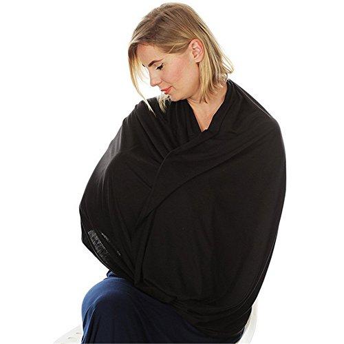 Multi schwarz Still Schal Baumwolle Dehnbar 4in 1Geschenk Baby-Sitz Autodecke, Himmel Stillen Cover INFINITY Schal