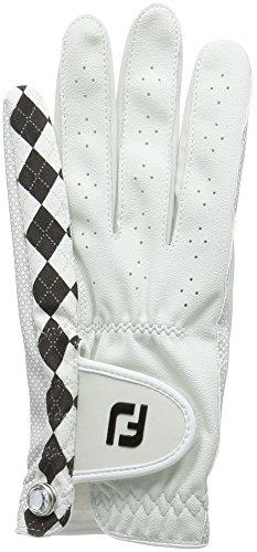 Footjoy FJ Attitudes-Golf-Handschuh für Linkshänder, Damen, Perla/Negro, Izquierda - M - Linkshänder-shirt