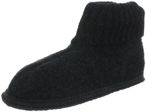 unisex schwarz Pantofole Ötzi Nero kohle Pichler bambino Kitz 27009 q0Iz5fn