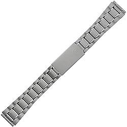 Uhrenarmband 18mm Metall - Farbe Titan - Edelstahl Metallarmband mit Faltschließe - Ersatzarmband für Uhren - Gliederband inkl. Wechselanstöße 20 mm & 22mm - Marburger Uhrband Classic Line