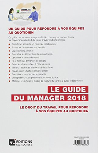 Le Guide du Manager 2018. Le droit du travail pour répondre à vos équipes au quotidien