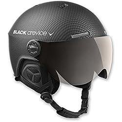 Black Crevice Casque de Ski pour Adulte Gstaad M/L Schwarz Carbon