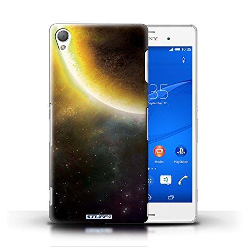 Kobalt® Imprimé Etui / Coque pour Sony Xperia Z3 / Nébuleuse Pourpre conception / Série Cosmos Éclipse Jaune