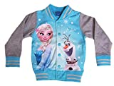 Disney Frozen Jacke Eiskönigin Mädchen Sweatjacke Freizeitjacke (122, Blau)