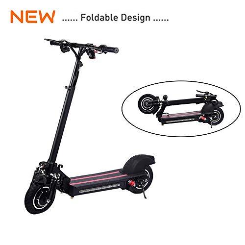 Gaeruite Scooter eléctrico, 10 pulgadas Scooter eléctrico plegable con tracción en dos ruedas para adultos, batería 48V / 22AH, velocidad máxima 40-60km / h, alcance 40km-60km