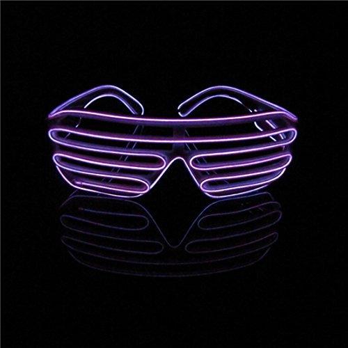 22c7bb92ffc Lerway Black Frame Neon El Wire LED Lighting Up Lerway Neon El Wire LED  Light Up Shutter Fashion