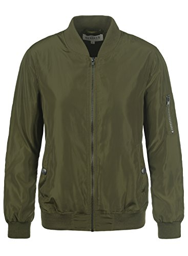 Desires Temari Damen Bomberjacke Übergangsjacke Jacke mit Stehkragen, Größe:L, Farbe:Ivy Green (3797)