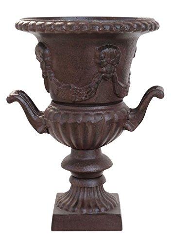 Maceta de hierro colado estilo antiguo