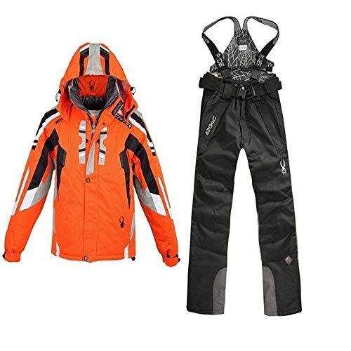 LEIT Herren Skianzug Winddichte Wasserdichte Jacken Anzug Outdoor-Ski Wanderhosen, 6, XL -