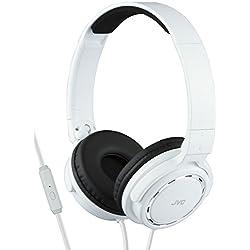 JVC HA-SR525 Casque Stéréo - on-ear avec télécommande et microphone blanc