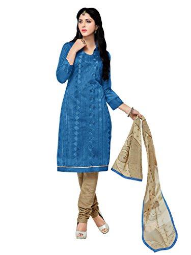 Applecreation Blue Chanderi Salwar Kameez