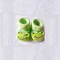 LANYUER Cute Baby Kid Toddler Newborn 3D Cartoon Short Sock Slipper Shoe Children Bootie(frog)