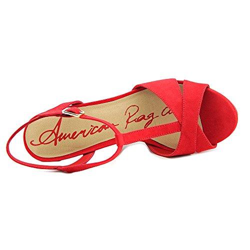 American Rag Jamie Femmes Simili daim Sandales Compensés red