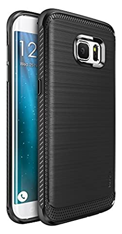 Coque Galaxy S7 Edge, Ringke [ONYX] [Extrême Dur / Grip résilient] Anti-Slip Ultra solide et durable la Protection Drop, une meilleure résistance à l'affaire défensif TPU flexible pour Samsung Galaxy S7 Edge - Black