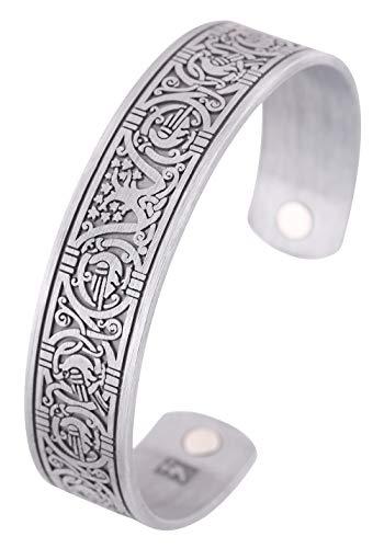 TEAMER Magnettherapie Gesundheit Viking Armband Baum des Lebens Keltischer Knoten Armreif für Damen Herren Schmuck