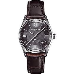 Certina C006.407.16.088.00 - Reloj para hombres, correa de cuero color marrón