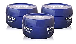 3x Nivea Creme Cream Body & Face All Skin Types Uni Moisturiser Tub 200ml