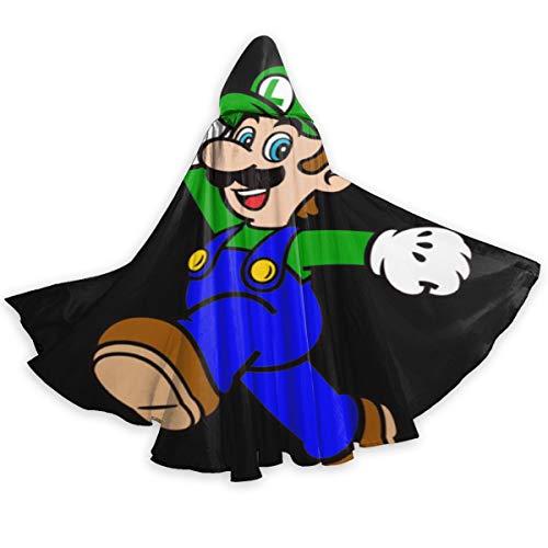 Star Super Mario Kostüm - Suixianhaimiaobaihuodian Super Mario Grüner Pilz Kapuzenmantel Langes Cape Für Weihnachten Halloween Cosplay Kostüme 59 Zoll Unisex