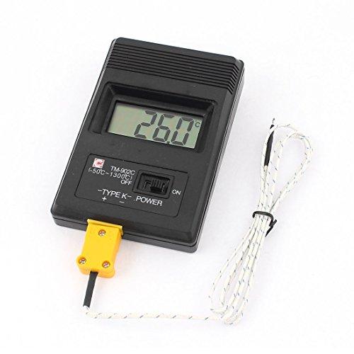 sourcingmap® LCD K-Typ Digitalthermometer Sensor TM-902C mit 2 Thermoelement Sonde Kabel DE de -