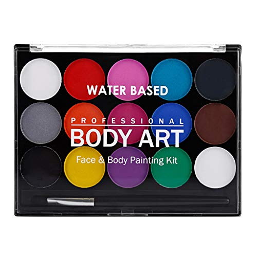 chminkfarben Schminkset Schminkpalette Kinderschminke Schminke Make-Up für Jungen Mädchen Bodypainting Fasching Karneval Halloween Make-up ()