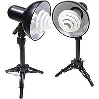 Cablematic - Kit de 2 focos de luz continua con soporte de 43 cm
