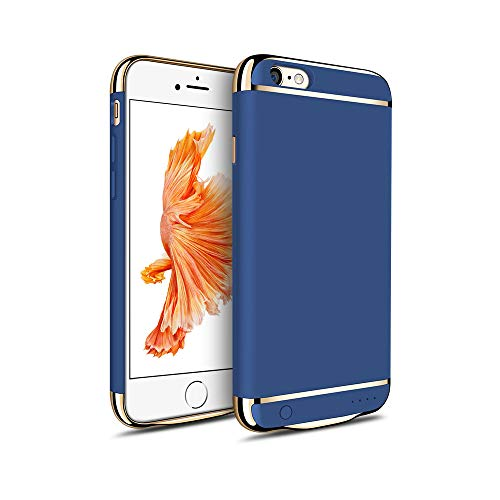MYGIRLE Batterie-Kasten 2500 / 3500mAh Fall Charging für iPhone 6 / iPhone 6s 4,7/5,5-Zoll-Energien-Bank-Ladegerät-Fall Wiederaufladbare Juice Pack,Blue,i6/6splus[3500mah]