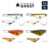FISHINGGHOST Spoon Set Stanza 5gr, 3cm - Spoon zum Angeln auf Seeforelle, Meerforelle, Zander, Hecht...