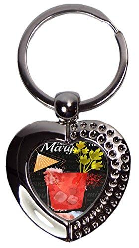 Schlüsselanhänger Bar Party Bloody Mary Herz bedruckt