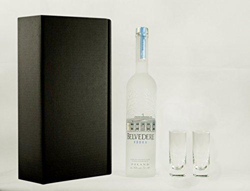 Preisvergleich Produktbild Geschenkidee Belvedere + 2 hochwertige Gläser